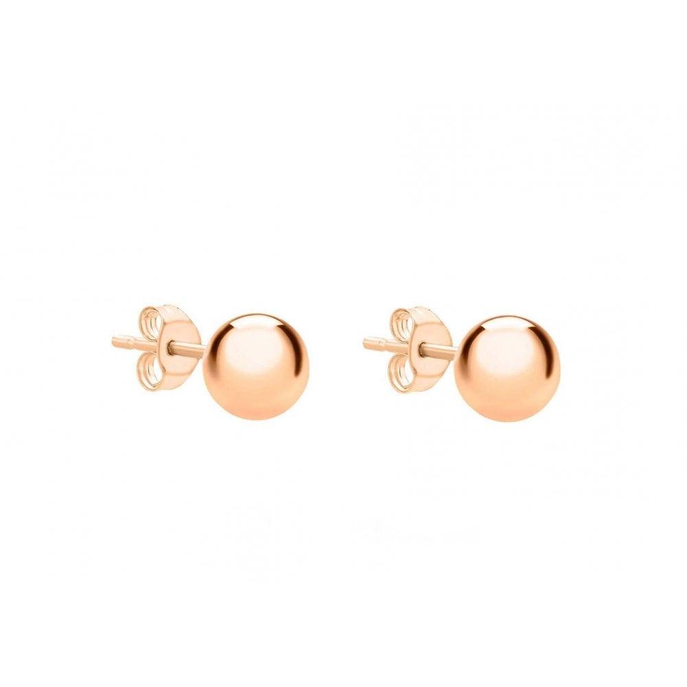 0387f1d80 9ct Rose Gold 4mm Ball Stud Earrings