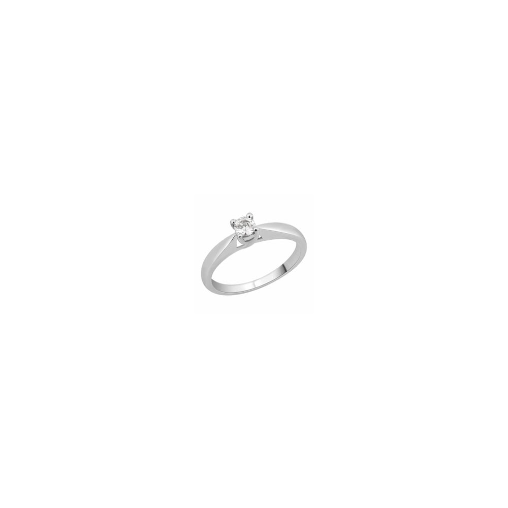 9ct White Gold 1 2 Carat Diamond Solitaire Ring for Women 8f3332e48