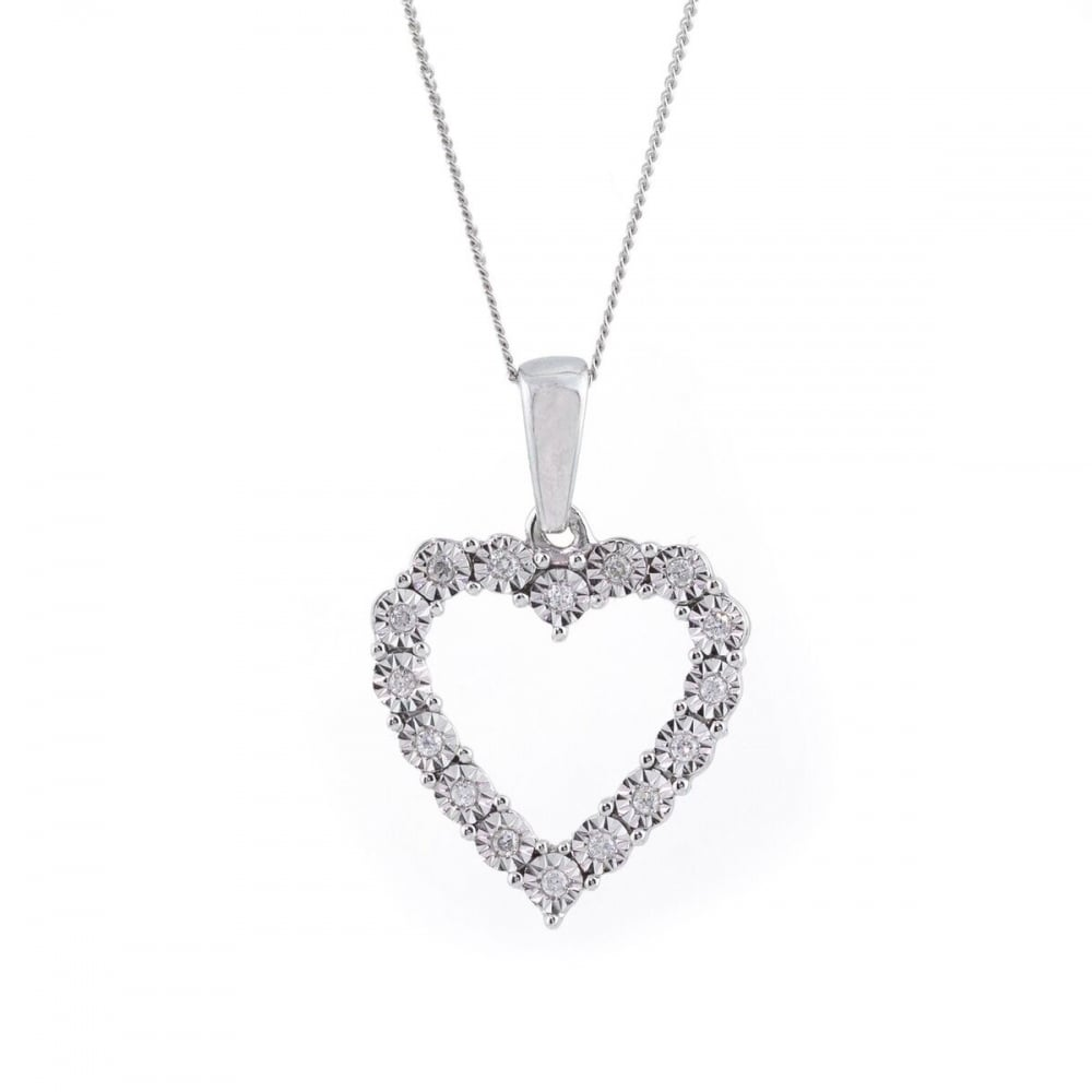 necklace white gold rc products heart yellow pendant rose beauniq open or