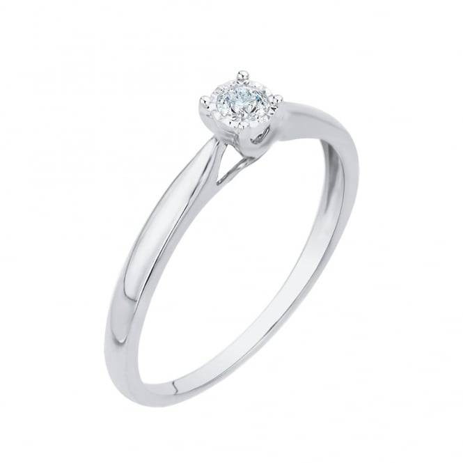 Eternity 9ct White Gold Diamond Solitaire Ring