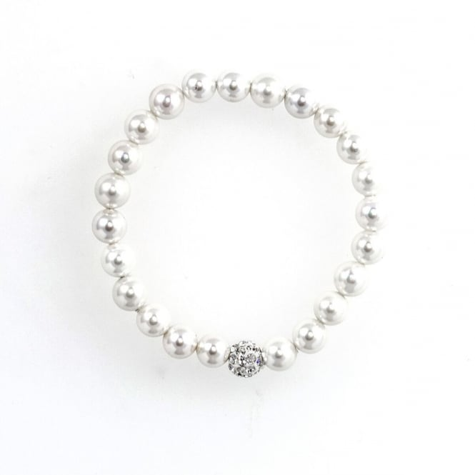 Eternity Childs Pearl and Crystal Ball Bracelet