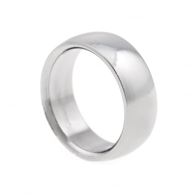 Eternity Mens Stainless Steel Plain Band Ring Size X