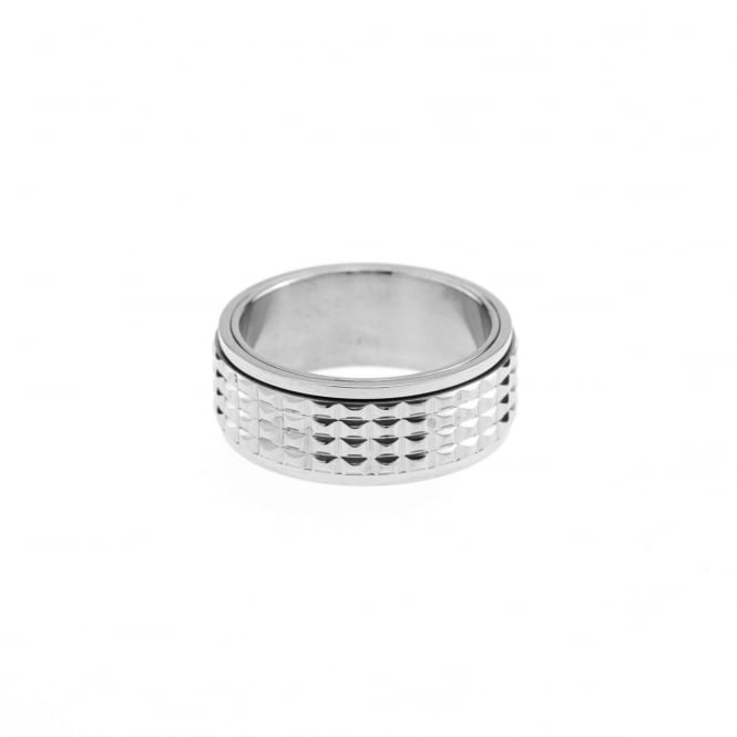 Eternity Mens Stainless Steel Spinner Ring Size T
