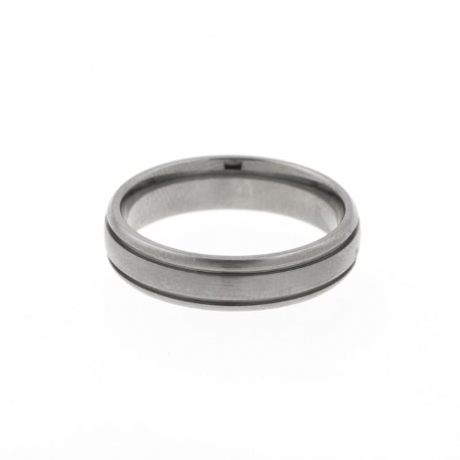 Eternity Mens Titanium Band Ring Size V