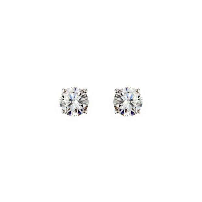 Eternity Sterling Silver 6mm Cubic Zirconia Stud Earrings
