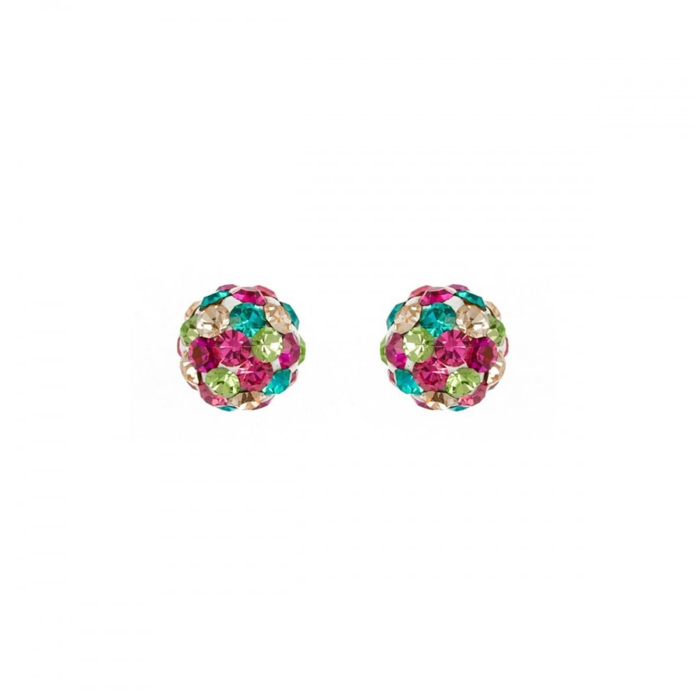 d17cf8493 Eternity Sterling Silver 6mm Multi-Colour Crystal Ball Stud Earrings ...