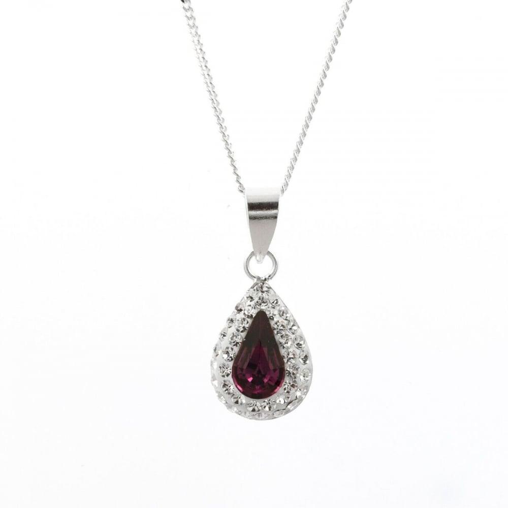 Eternity sterling silver amethyst crystal teardrop pendant and chain sterling silver amethyst crystal teardrop pendant and chain mozeypictures Choice Image