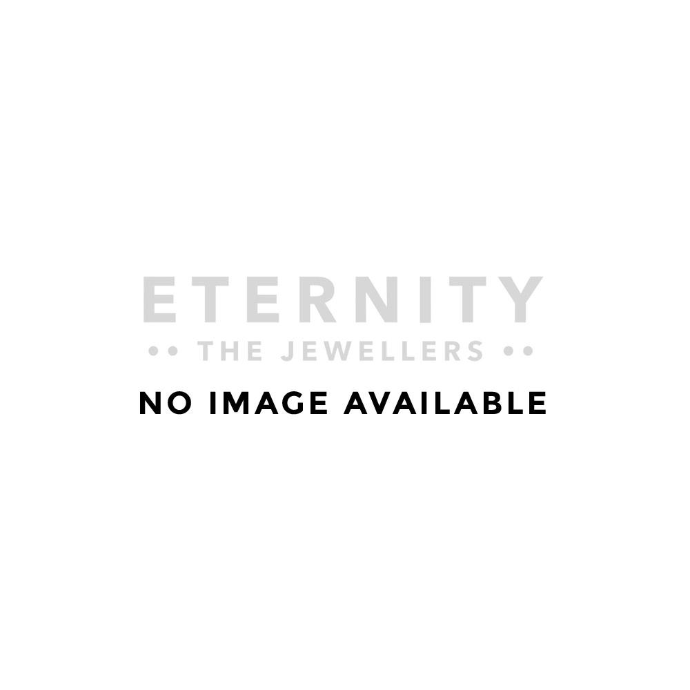 Eternity Sterling Silver and Rose Gold Small Cubic Zirconia Set Band Earrings