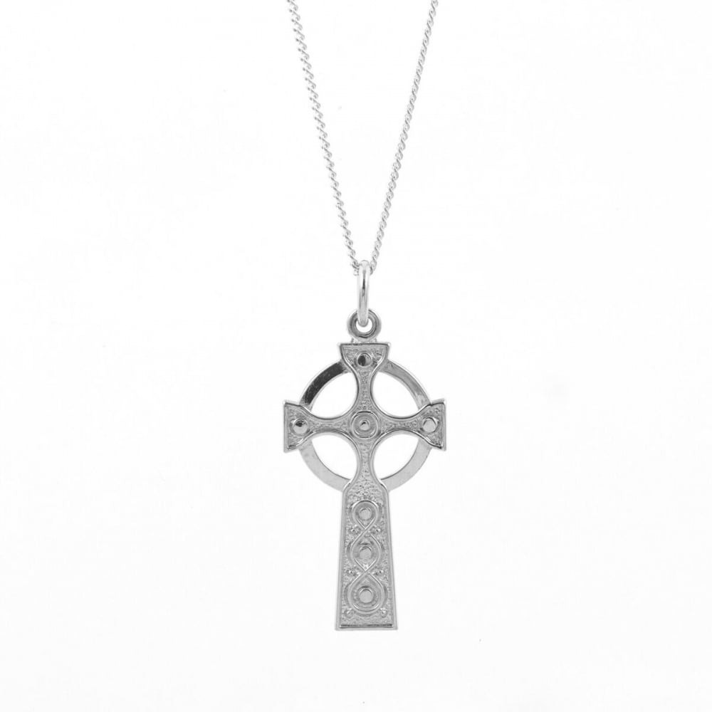 Eternity sterling silver celtic cross pendant and chain jewellery sterling silver celtic cross pendant and chain aloadofball Choice Image