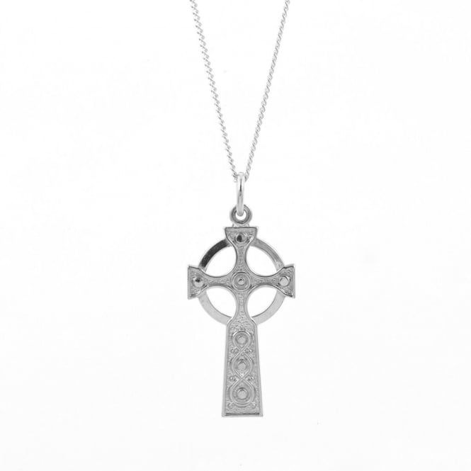 Eternity Sterling Silver Celtic Cross Pendant and Chain