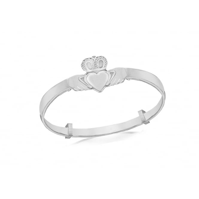 Eternity Sterling Silver Childs Claddagh Bangle