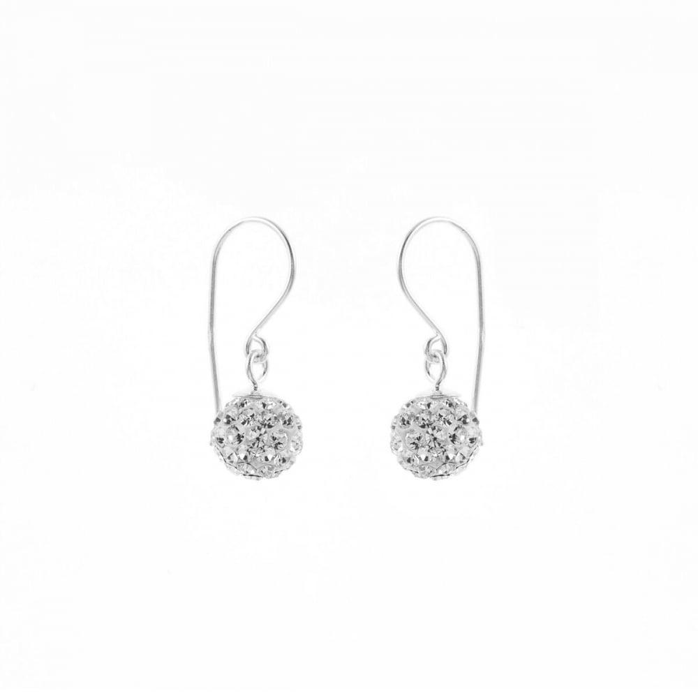 e0ac338c8dc7b Sterling Silver Crystal Ball Drop Earrings
