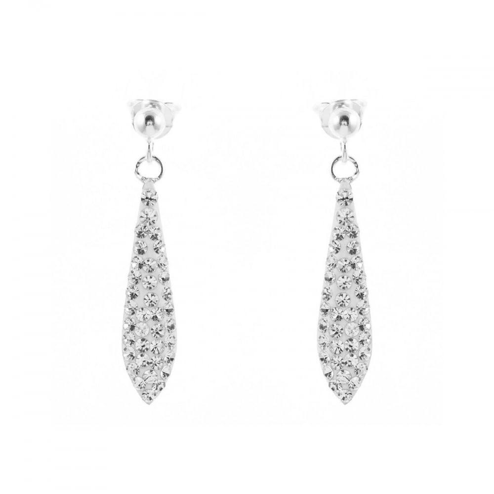 a2c913536 Eternity Sterling Silver Crystal Bomber Drop Earrings - Jewellery ...