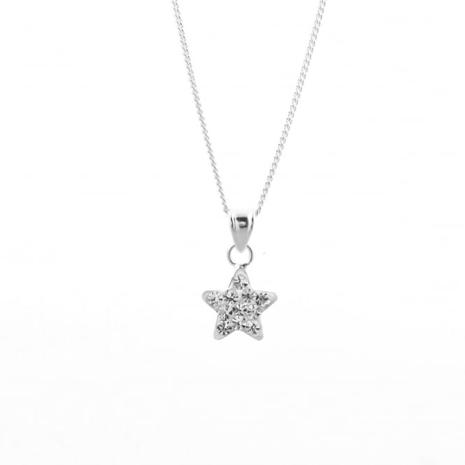 Eternity Sterling Silver Crystal Star Pendant and Chain