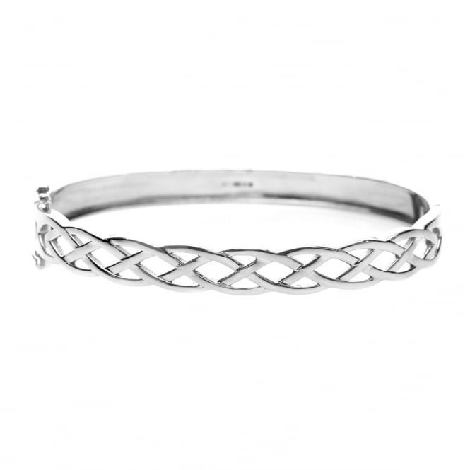 Eternity Sterling Silver Cut Out Celtic Pattern Bangle