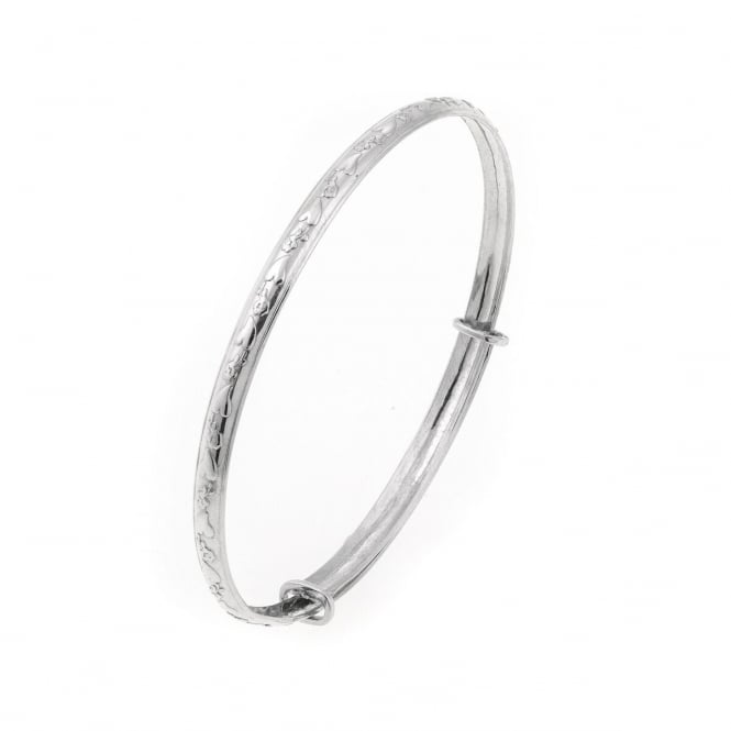 Eternity Sterling Silver Expanding Maids Bangle