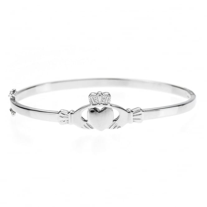 Eternity Sterling Silver Ladies Claddagh Bangle