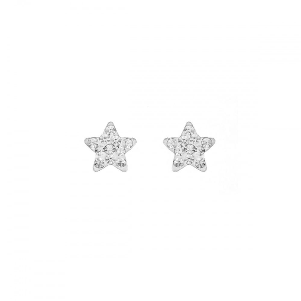 23fb7b9f0 Eternity Sterling Silver Small Crystal Star Stud Earrings ...