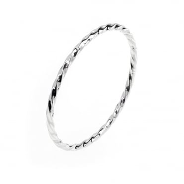 Sterling Silver Twisted Slave Bangle