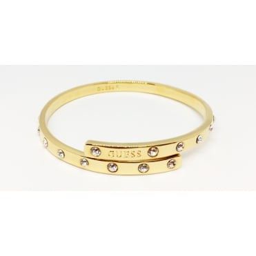 Gold Plated 'Hoops I Did It Again' Large Swarovski Set Bangle
