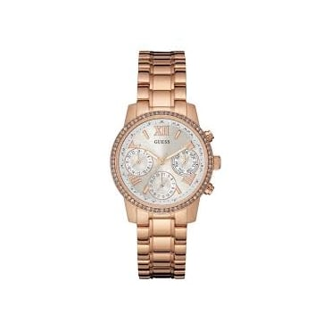 Ladies 'Mini Sunrise' White Multi Dial with a Rose Gold Bracelet