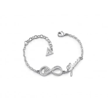 Rhodium Plated 'Endless Love' Infinity Bracelet