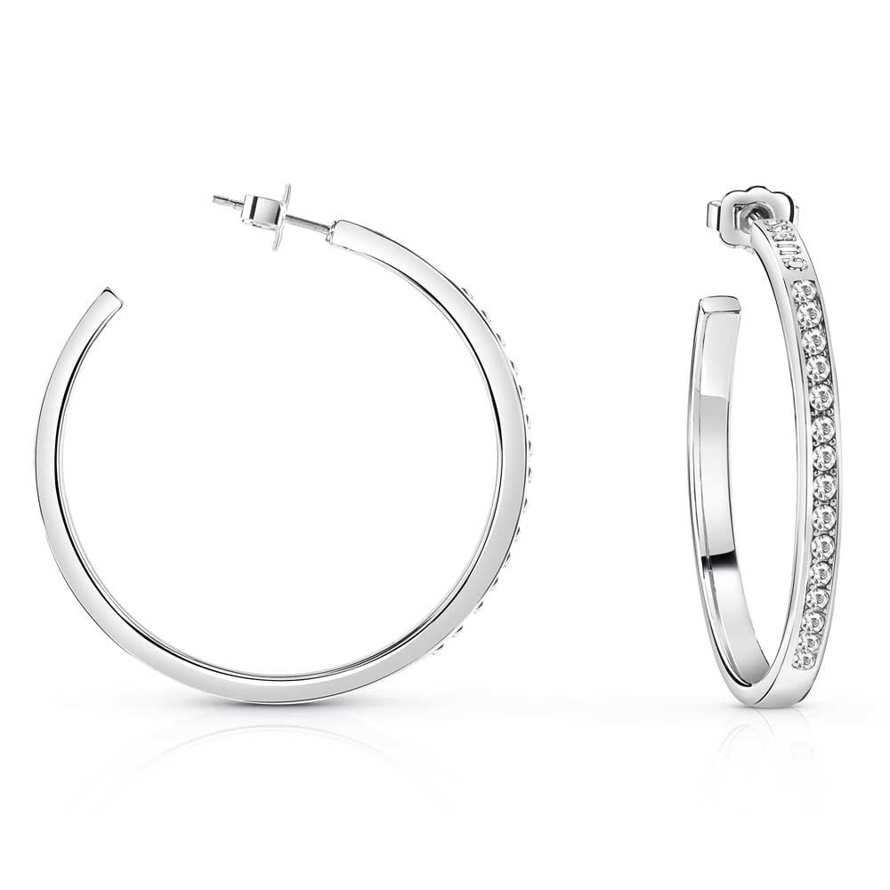2019 factory price deft design luxury fashion Guess Rhodium Plated 'G Colours' Swarovski Crystal Hoop Earrings