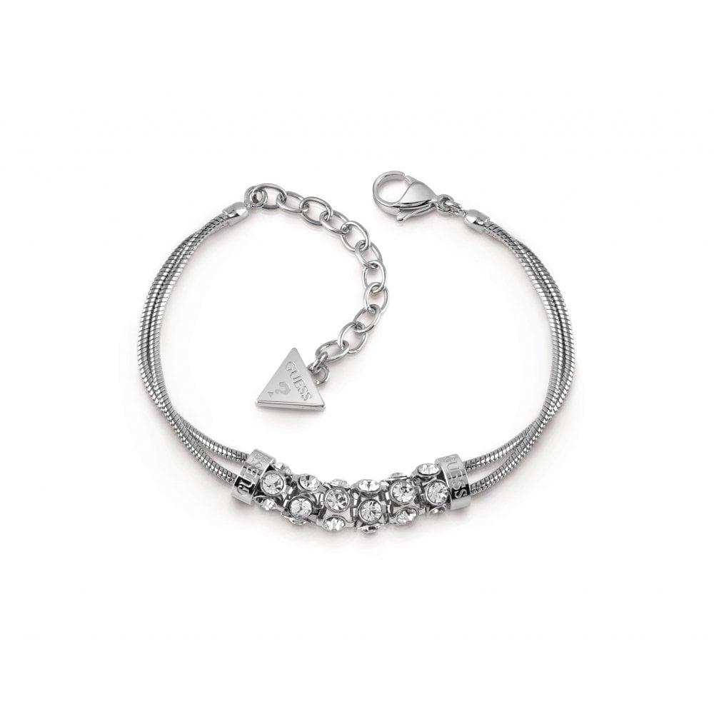 Glitter Girl Swarovski Crystal Silver Bracelet