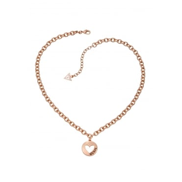 Rose Gold Plated Cut Out Heart Necklace