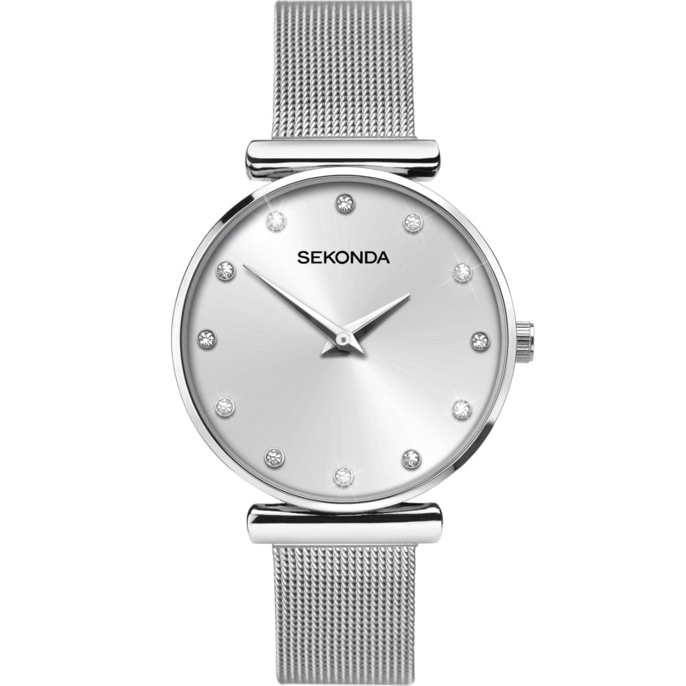 medium unknown silver the burton from mesh dandy olivia watches uk