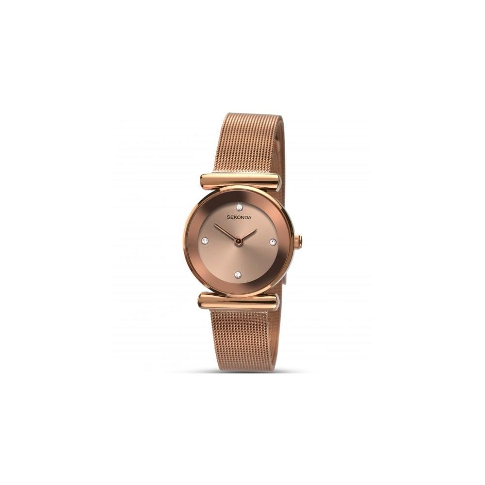 29ed541cc4b50 Sekonda Ladies' Rose Gold Mesh Bracelet Watch - Watches from ...