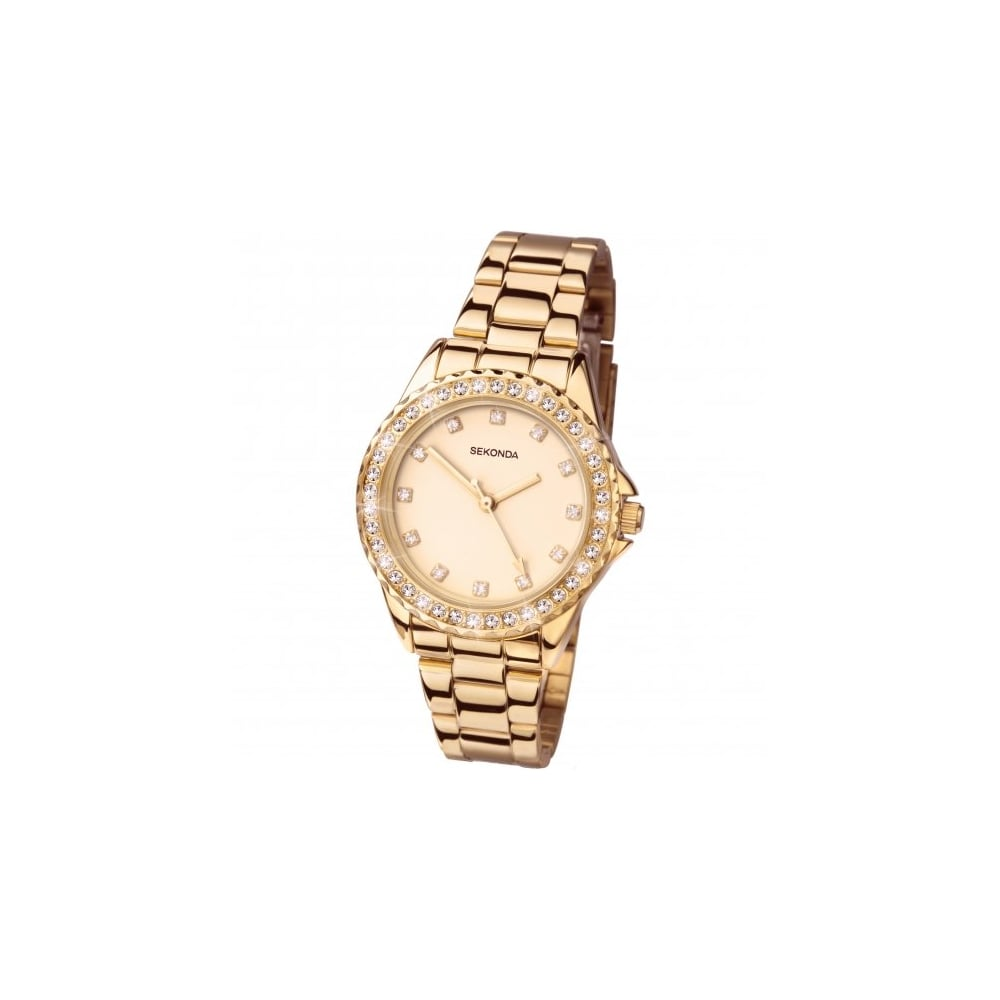 b2335c51719 Sekonda Ladies   039 Temptations  039  Stone Set Rose Gold Bracelet Watch