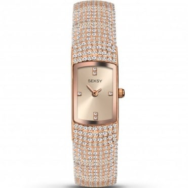 Seksy Ladies' Rose Gold-Plated Bracelet Watch