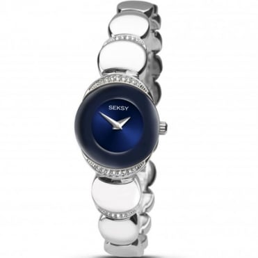 Seksy Ladies' Sapphire Stainless Steel Watch