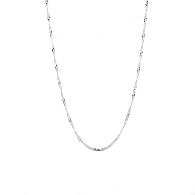 """Sterling Silver 20"""" Singapore Chain """