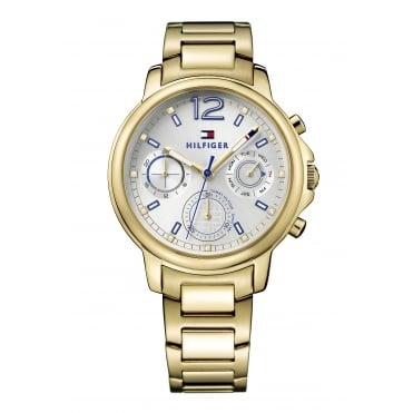 Tommy Hilfiger Claudia Ladies Gold Plated Bracelet Watch