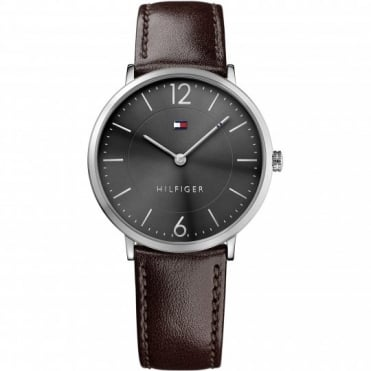 Tommy Hilfiger James Mens Brown Strap Watch
