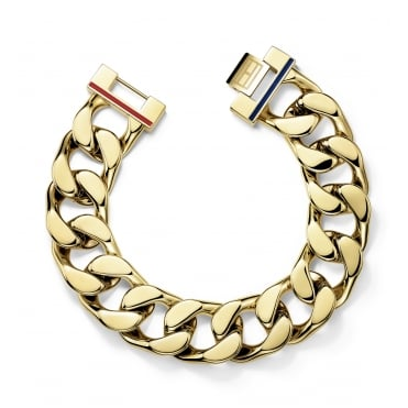 Ladies Chunky Gold Plated Curb Bracelet