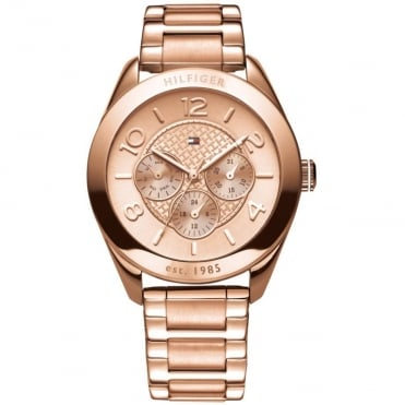 Ladies 'Gracie' Round Rose Multi Dial with a Rose Bracelet