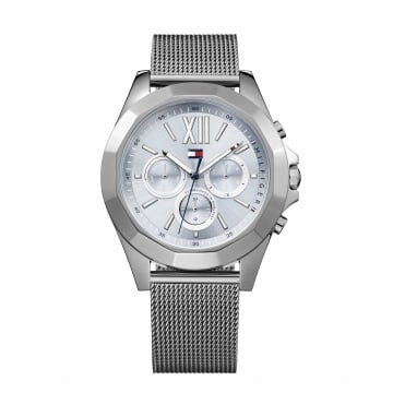 Tommy Hilfiger Ladies' Grey Mesh Bracelet Watch