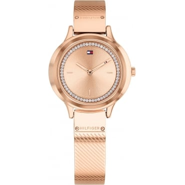 Ladies Olivia Round Rose Dial with a Rose Mesh Bangle