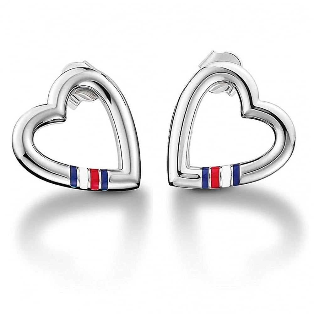 bd874812b Ladies Open Heart Stainless Steel Stud Earrings