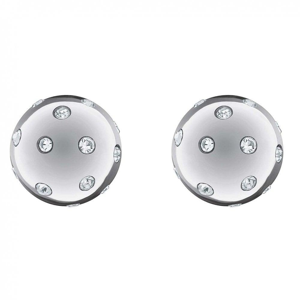 7b793fb80 Ladies Stainless Steel Beaded Ball Stud Earrings