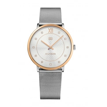 Tommy Hilfiger Ladies' Stainless Steel Mesh Bracelet Watch