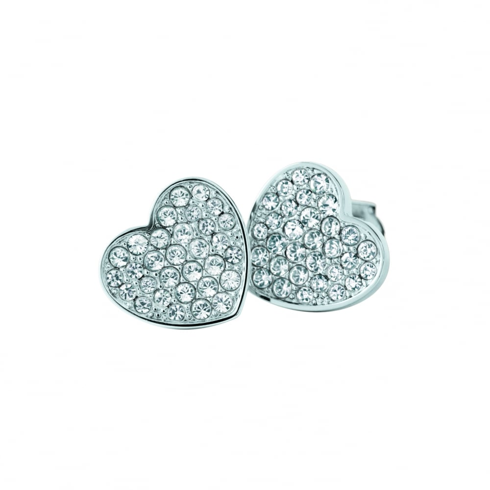 1cdcca16f Ladies Stainless Steel Pave Stud Earrings