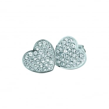 Ladies Stainless Steel Pave Studs