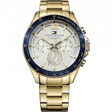 Tommy Hilfiger Luke Mens Gold Plated Bracelet Watch