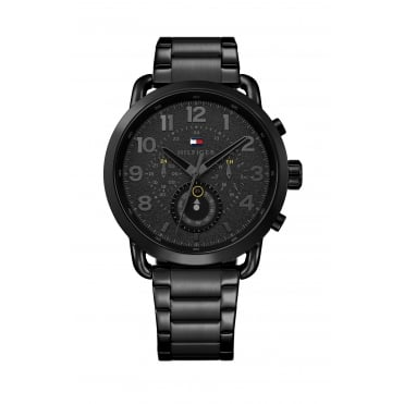 Tommy Hilfiger Mens Black Strap Watch
