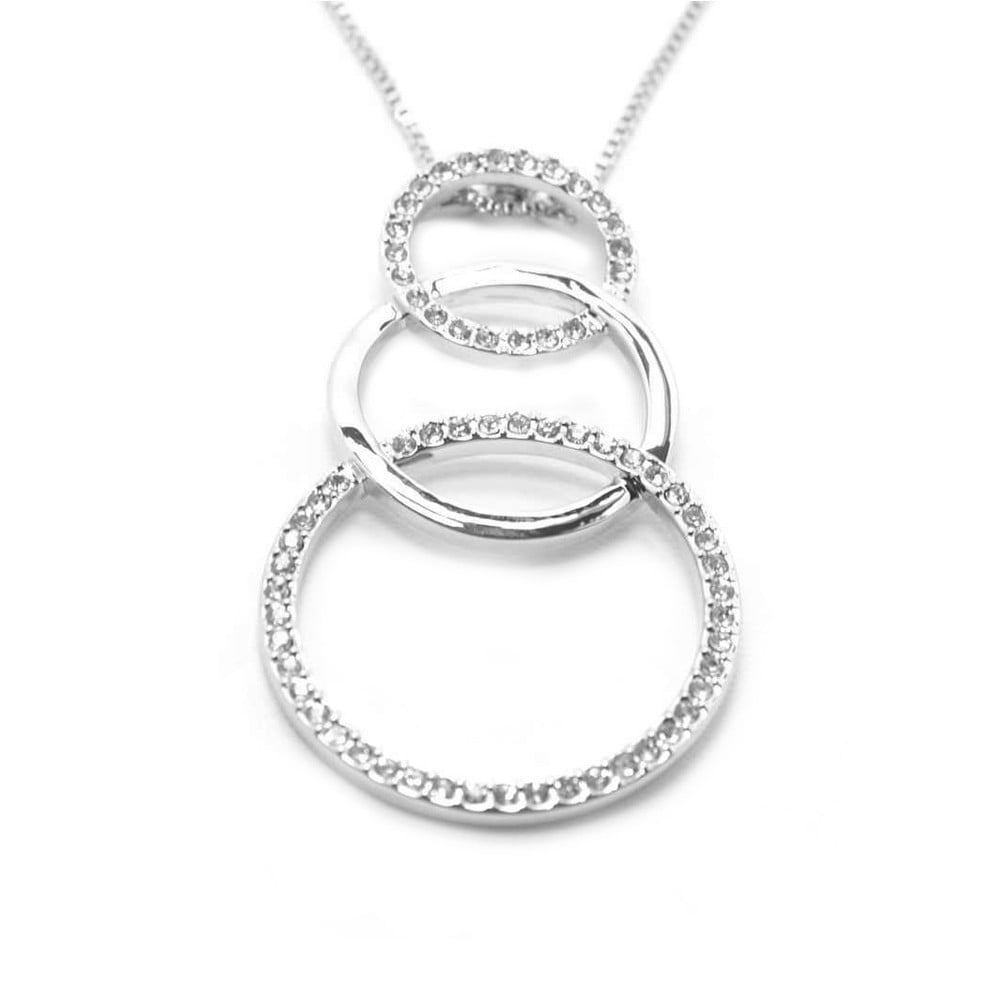 day necklaces for women gift necklace circle triple uloveido from steel stainless men pendant in couple valentines item pendants and